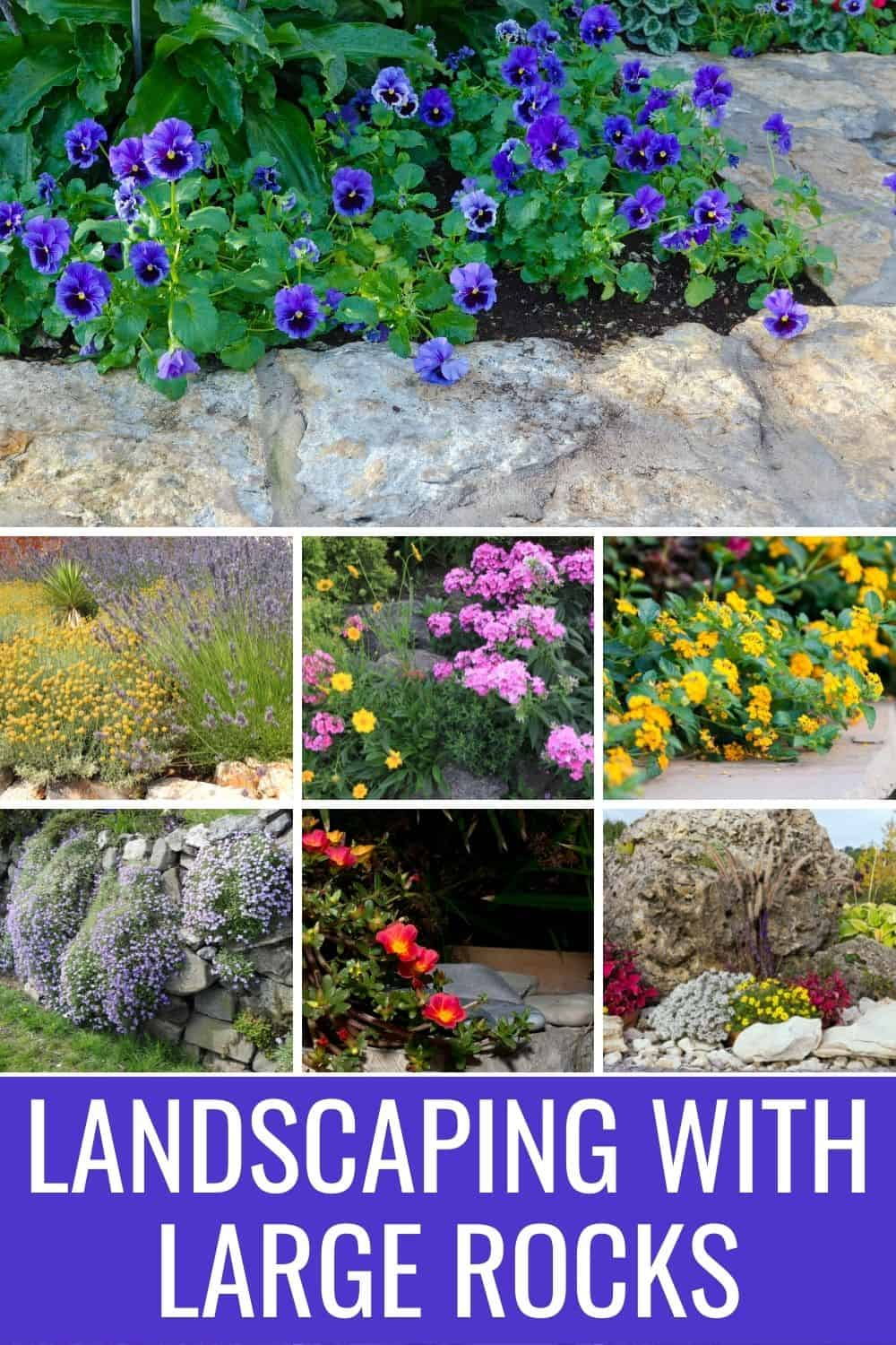Landscaping with large rocks