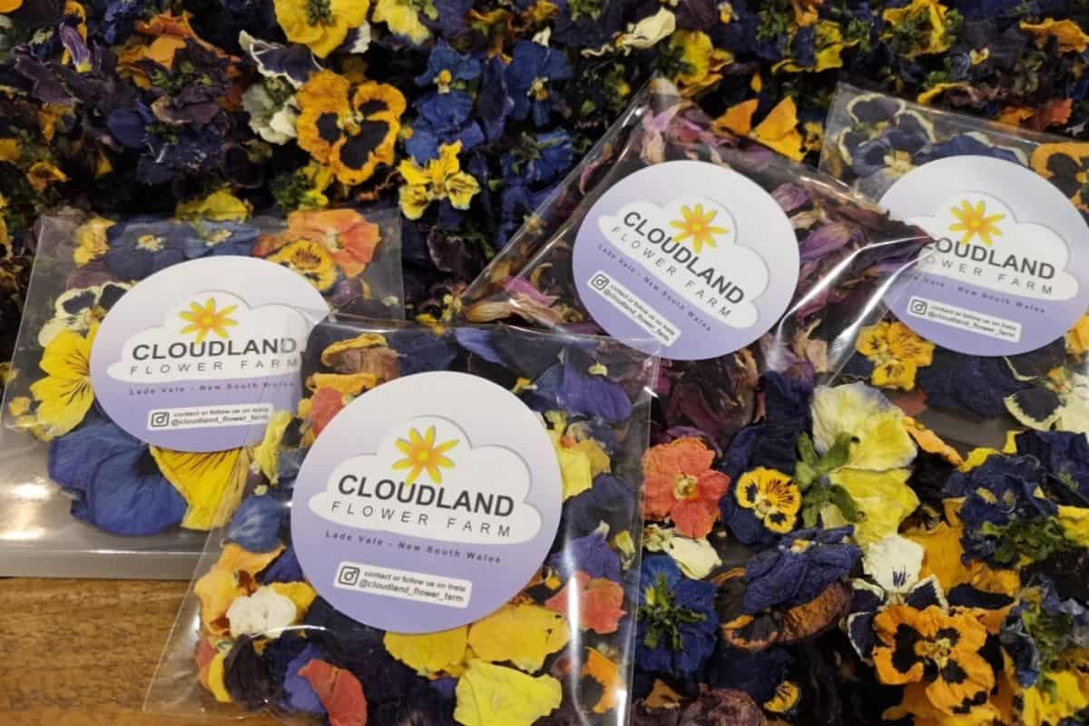 packaged dried flowers ready to ship