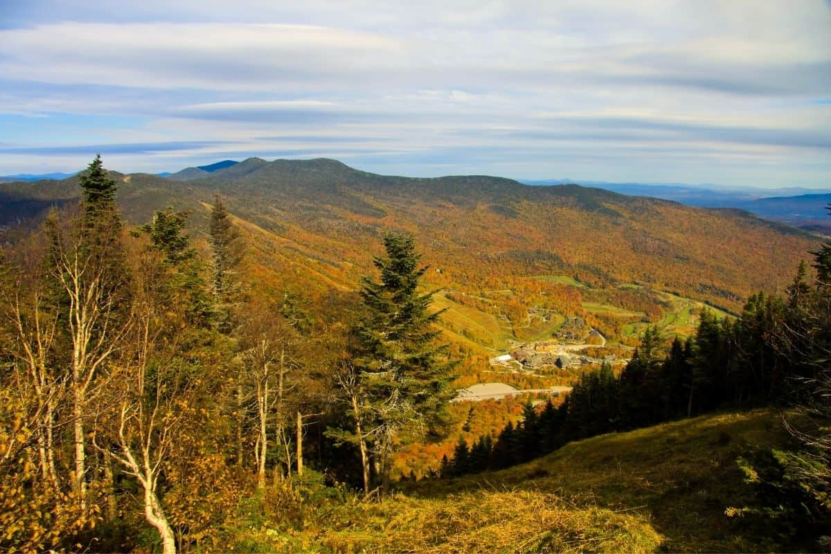 Mount Mansfield in the fall